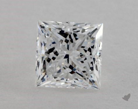 0.90 Carat E-SI1 Ideal Cut Princess Diamond