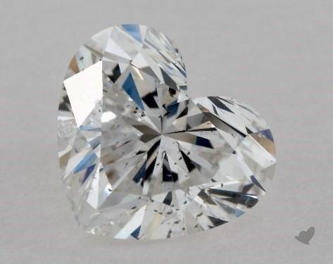 1.02 Carat F-SI1 Heart Shape Diamond