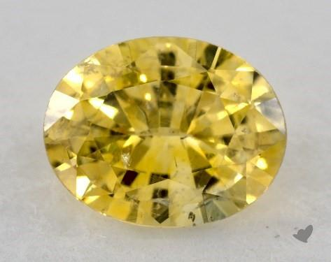 <b>0.86</b> carat Oval Natural Yellow Sapphire