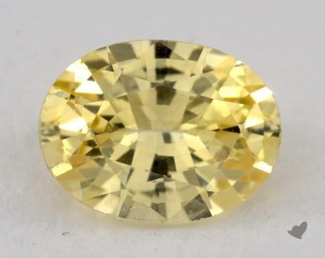 <b>0.83</b> carat Oval Natural Yellow Sapphire