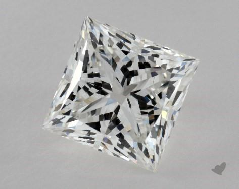 2.02 Carat G-VVS2 Ideal Cut Princess Diamond