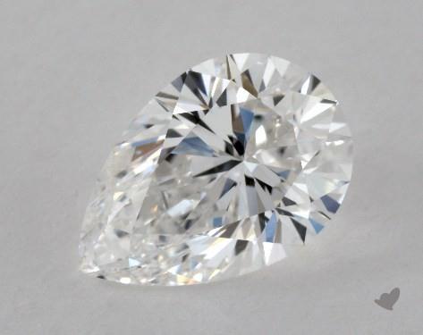 0.90 Carat E-VVS1 Pear Shape Diamond