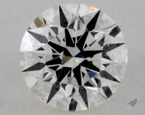 0.90 Carat H-SI1 Excellent Cut Round Diamond
