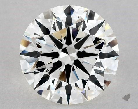3.31 Carat H-SI1 Excellent Cut Round Diamond