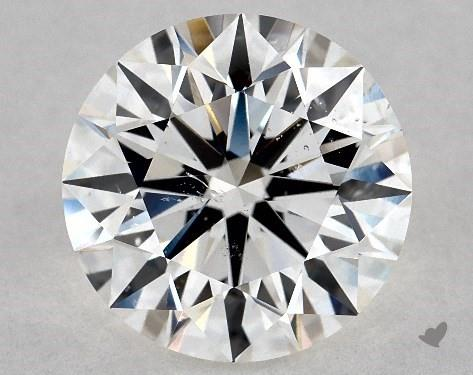 2.71 Carat H-SI1 Excellent Cut Round Diamond