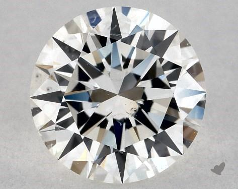 0.80 Carat H-SI1 Excellent Cut Round Diamond