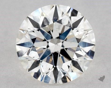 1.03 Carat H-SI1 Excellent Cut Round Diamond