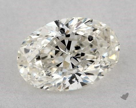 0.70 Carat J-SI2 Oval Cut Diamond