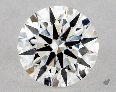 0.71 Carat F-SI1 True Hearts<sup>TM</sup> Ideal Diamond