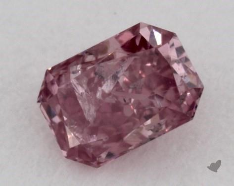 0.15 Carat FANCY INTENSE PURPLISH PINK Radiant Cut Diamond