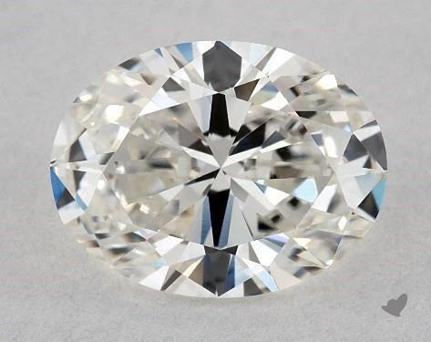 0.90 Carat H-VS1 Oval Cut Diamond