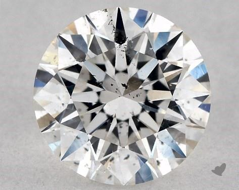 1.03 Carat H-SI1 Excellent Cut Round Diamond