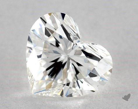 0.73 Carat H-VS2 Heart Shape Diamond