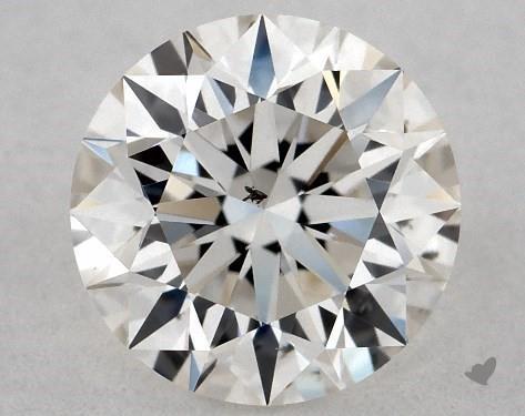 0.71 Carat H-SI1 Excellent Cut Round Diamond