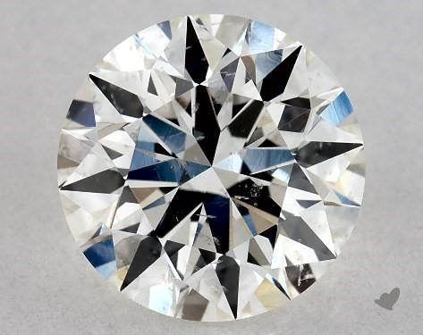 1.26 Carat H-SI1 Excellent Cut Round Diamond