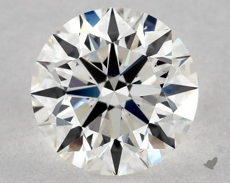 0.91 Carat H-SI1 Excellent Cut Round Diamond