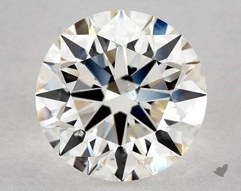 3.51 Carat H-SI1 Excellent Cut Round Diamond
