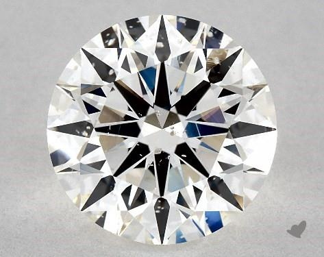 2.72 Carat H-SI1 Excellent Cut Round Diamond