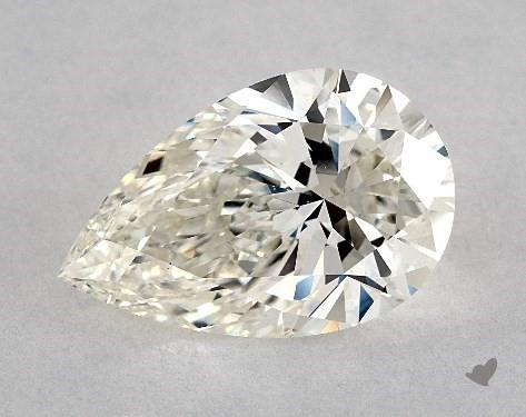 5.01 Carat H-VS2 Pear Shape Diamond