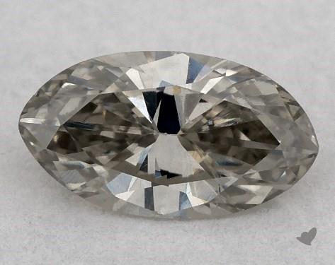 0.32 Carat FANCY  GRAY-SI1 Marquise Cut Diamond