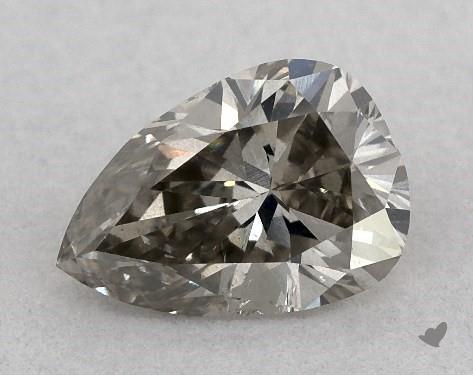 0.58 Carat FANCY  GRAY-SI2 Pear Shape Diamond