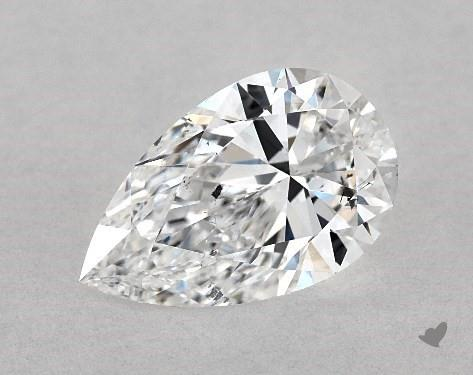 1.00 Carat D-SI1 Pear Shape Diamond