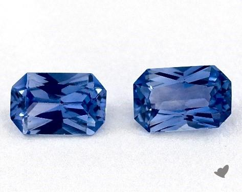 1.04 Total Carat Weight Radiant Natural Blue Sapphires