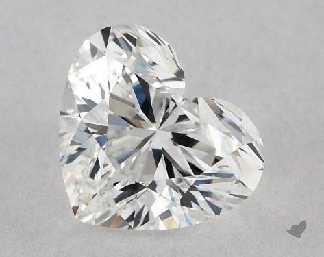 0.70 Carat F-VS1 Heart Shape Diamond