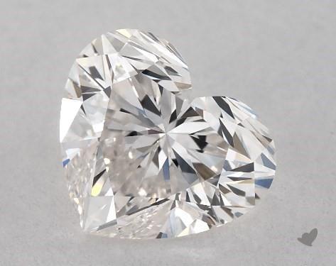 0.72 Carat H-IF Heart Shape Diamond