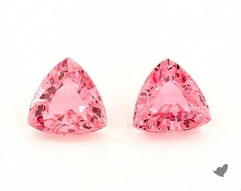 <b>1.20</b> Total Carat Weight Trillion Natural Pink Sapphires