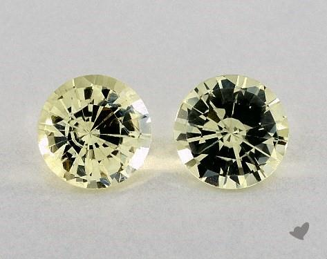 2.62 Total Carat Weight Round Natural Yellow Sapphires