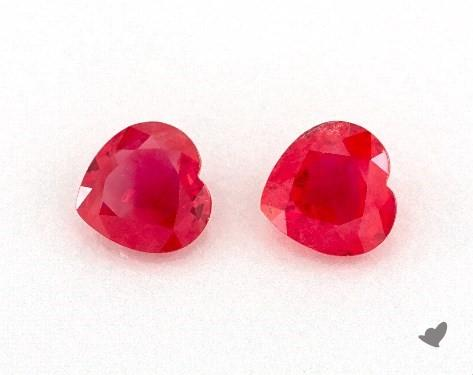 0.98 Total Carat Weight Heart Natural Rubiess