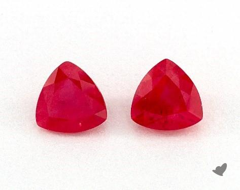 1.05 Total Carat Weight Trillion Natural Rubiess