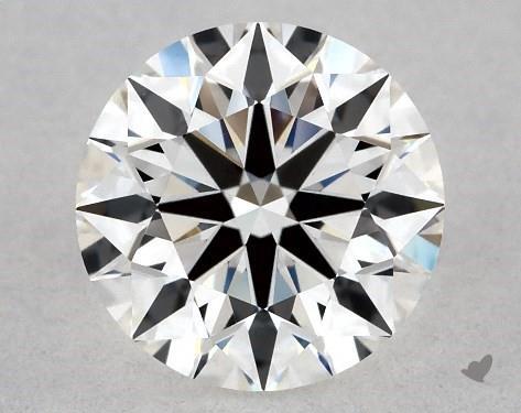 0.73 Carat E-VVS1 True Hearts<sup>TM</sup> Ideal Diamond