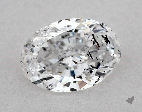 0.80 Carat D-I1 Oval Cut Diamond