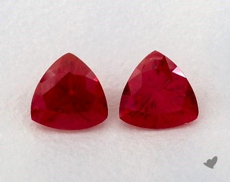 1.20 Total Carat Weight Trillion Natural Rubiess