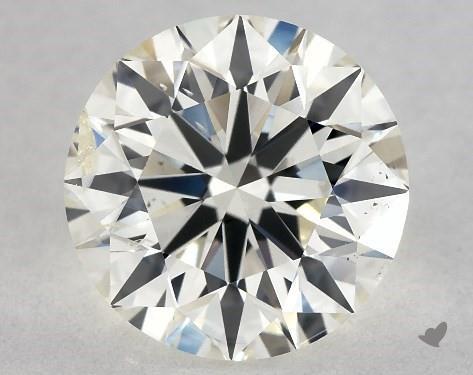 1.51 Carat J-I1 Excellent Cut Round Diamond