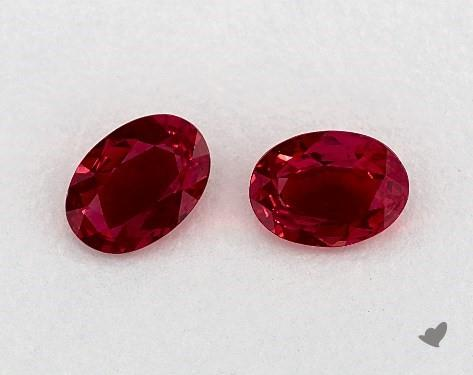 <b>1.22</b> Total Carat Weight Oval Natural Rubiess