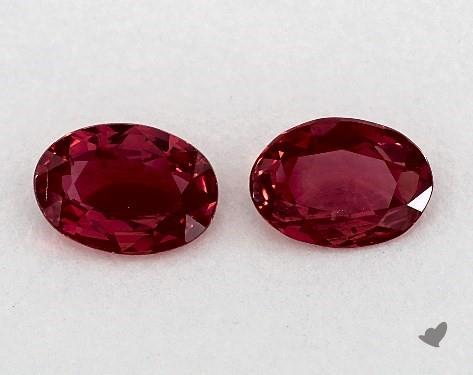 1.35 Total Carat Weight Oval Natural Rubiess