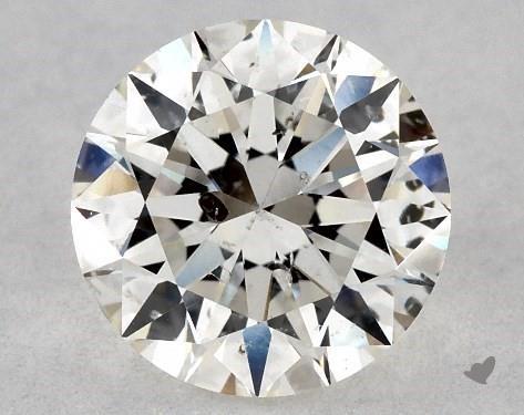 0.72 Carat H-I1 Excellent Cut Round Diamond