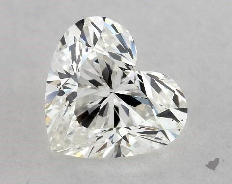 0.81 Carat H-VS2 Heart Shape Diamond