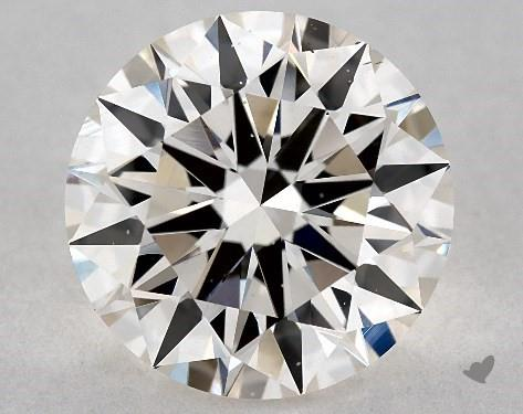 2.16 Carat J-VS2 Excellent Cut Round Diamond