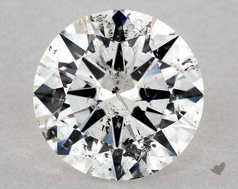2.50 Carat H-I1 Excellent Cut Round Diamond