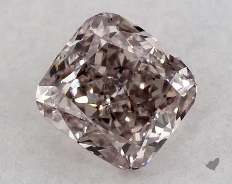 0.34 Carat FANCY BROWN PINK-SI1 Cushion Modified Cut Diamond