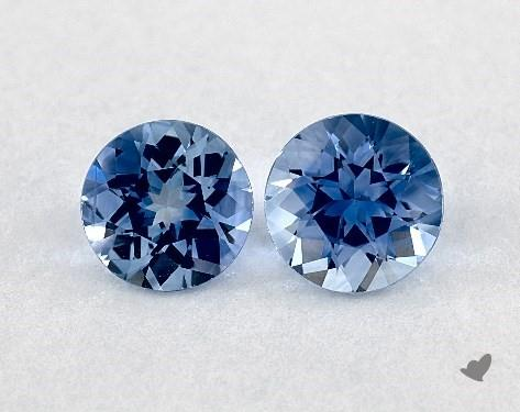 <b>0.97</b> Total Carat Weight Round Natural Blue Sapphires