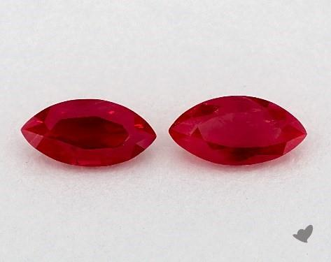 1.19 Total Carat Weight Marquise Natural Rubiess