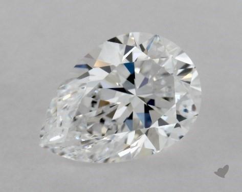 0.95 Carat D-VS1 Pear Shape Diamond