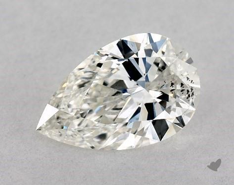 0.76 Carat I-SI2 Pear Shape Diamond