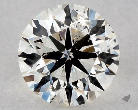 0.70 Carat J-SI2 Excellent Cut Round Diamond
