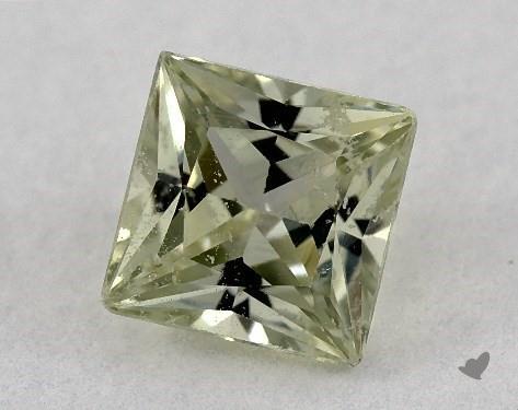 0.70 carat Princess Natural Yellow Sapphire